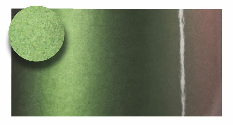folia zmieniająca kolor - dwa lolory zielony i brązowy - foliggo